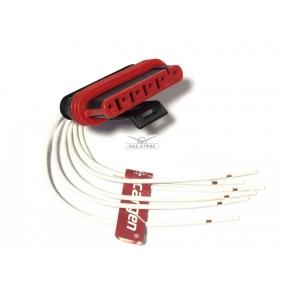 Разъём 6-ти контактный с проводами (АХ-323-2)