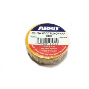 Изоляционная лента ABRO жёлтая