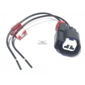 Разъём 2-ух контактный с проводами - форсунки двигателя УМЗ-4216 (Евро-4) - (АХ-511)