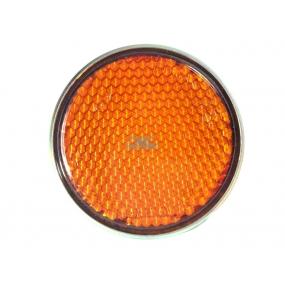 Световозвращатель круглый (с 1 болтом) Оранжевый