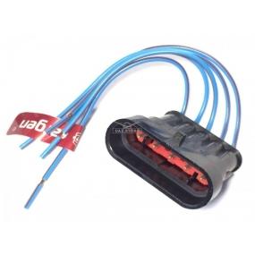 Разъём 5-ти контактный с проводами - жгута форсунок ГАЗ (АХ-322)