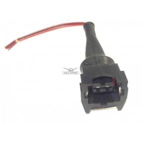 Разъём 2-ух контактный с проводами - датчика детонации, датчика температуры охлаждающей жидкости, датчика температуры впускного воздуха, датчика заднего хода, к форсунке (АХ-509)