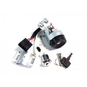 """Выключатель зажигания Евро 3 ДААЗ (однорядный разъём) с выключателем замка передней двери (""""личинкой""""), под  транспондер иммобилайзера (""""чип""""), без транспондера иммобилайзера (""""чипа)"""