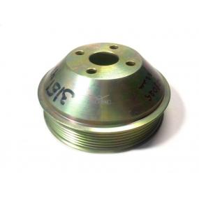 Шкив вентилятора (металлический под поликлиновый ремень) для УАЗ-452 с двигателем ЗМЗ-514
