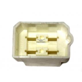 Разъем прямоугольный 4-х контактный (вилка) без проводов, без контактов
