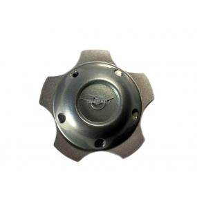 Колпак декоративный колеса (на литой диск) - глухой - с эмблемой - светло серый ДС 292