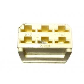 Разъем прямоугольный 6-и контактный (розетка) без проводов, без контактов