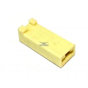 Разъем прямоугольный 1 контактный (розетка), без проводов, без контактов