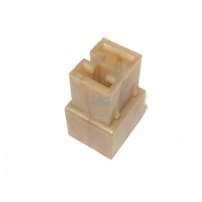 Разъем прямоугольный 2-х контактный (розетка), без проводов, без контактов