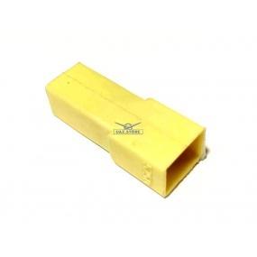 Разъем прямоугольный 1 контактный (вилка), без проводов, без контактов
