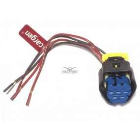 Разъём 4-ёх контактный с проводами - датчика массового рахсода воздуха Bosch 0280218220; Датчика массового расхода воздуха 1117-1119, 2170, 21214 (16-клапанный двигатель) с электронной педалью акселератора (АХ-320-5)