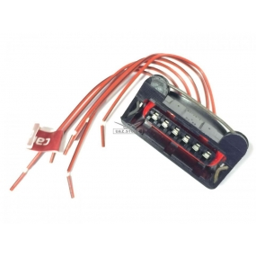 Разъём 6-ти контактный с проводами - датчика массового расхода воздуха (АХ-504)