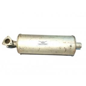 Глушитель 3160 - (1-ая труба без фланца 5 см, 2-й фланец с 3-мя отверстиями на загнутой трубе 5 см)