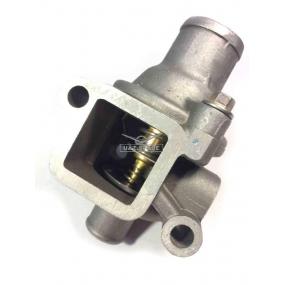 Корпус с термостатом ЗМЗ 4091 нижний патрубок Ф26 мм, одно сквозное отверстие с резьбой, без пробки слева)
