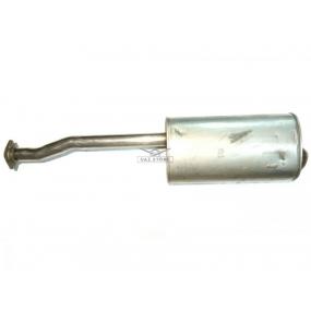 Глушитель Patriot - (1-й фланец с 2-мя отверстиями на кривой трубе 65 см, 2-й фланец с 3-мя отверстиями на прямой трубе 4 см)
