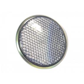 Световозвращатель круглый (с 1 болтом) Белый