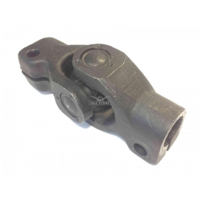 Шарнир карданный вала рулевого управления в сборе - (с одной стороны шлиц для трубы, с другой стороны такой же шлиц) для автомобилей без ГУРа