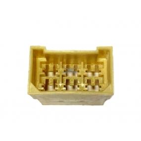 Разъем прямоугольный 6-и контактный (вилка), без проводов, без контактов