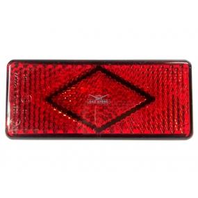 Световозвращатель прямоугольный Patriot (с 1 болтом) красный